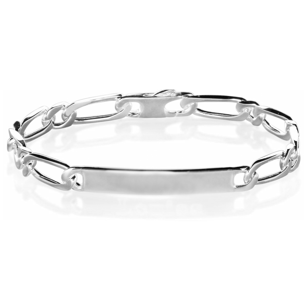 Gourmette femme argent 5 mm maille 1+1 - ADA