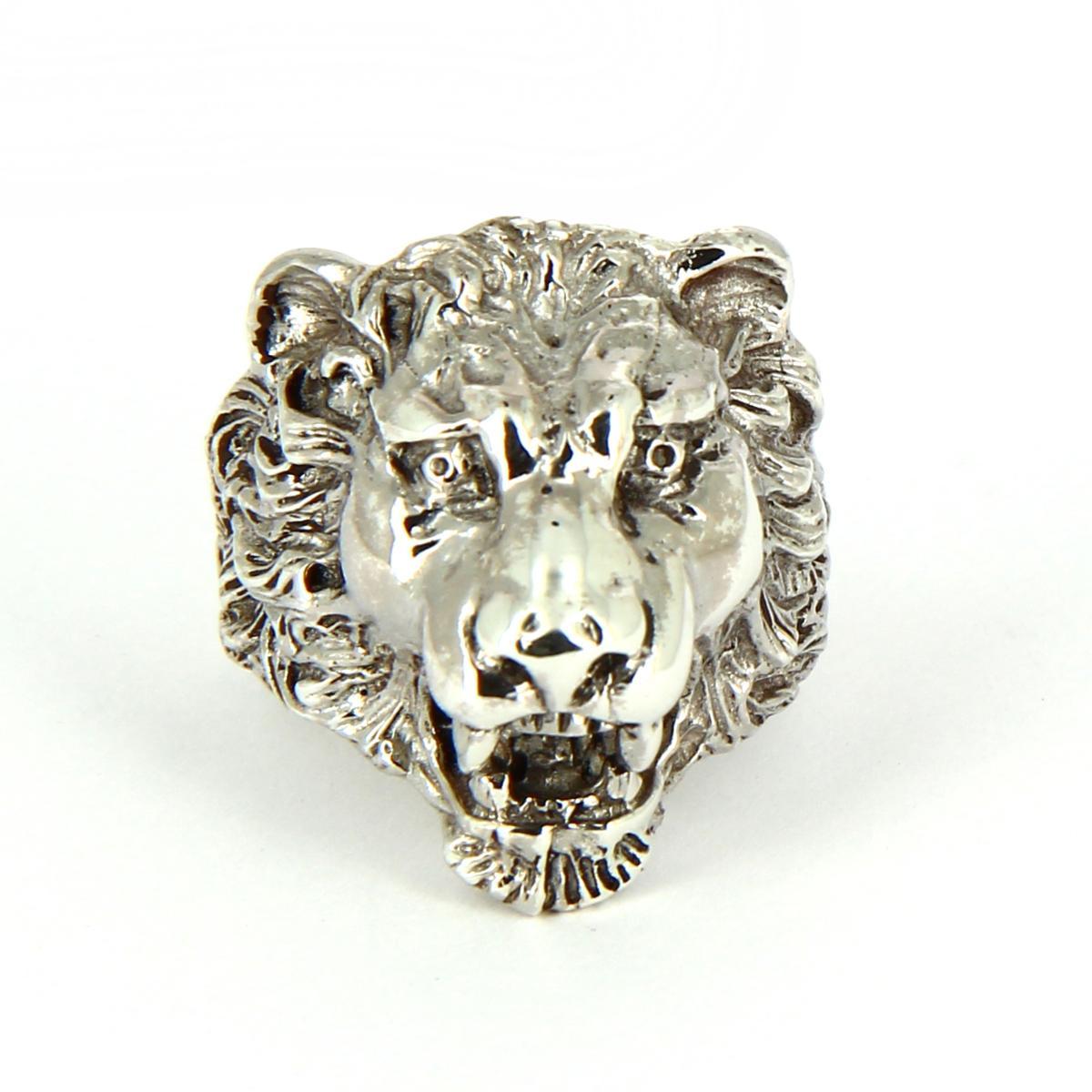 bague en argent lion