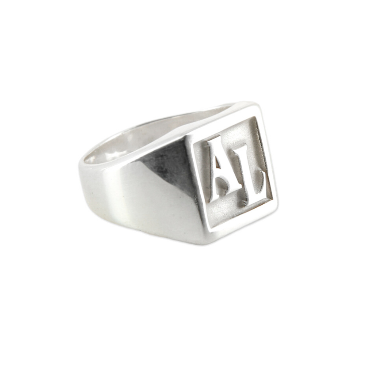 Bague argent homme initiales - DIEGO