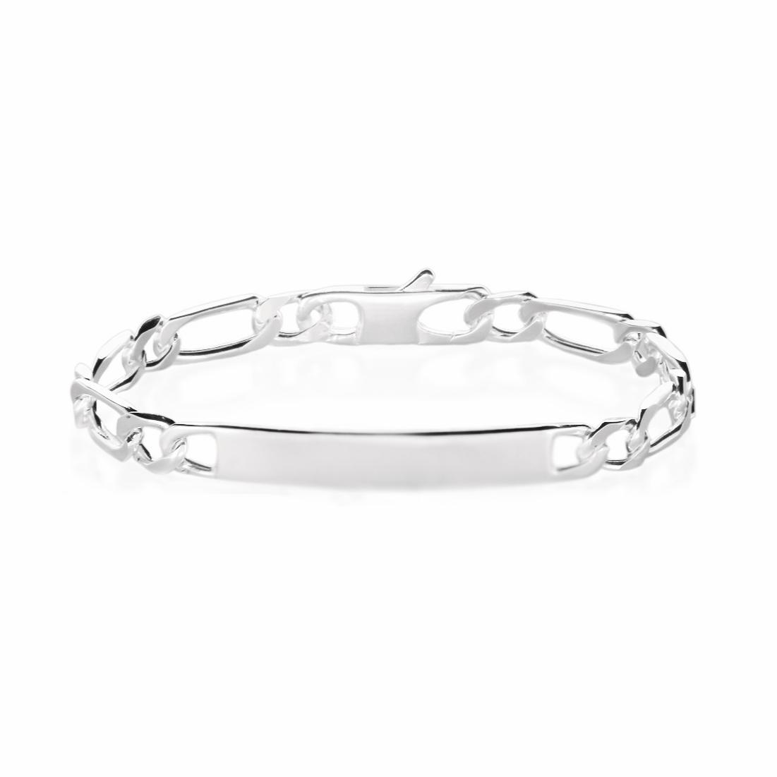 Gourmette femme argent 4 mm maille 1+1 - ANTONIA