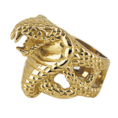 Bague serpent or 9 carats - COBRA