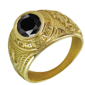 Bague américaine universitaire or 18k - ACE
