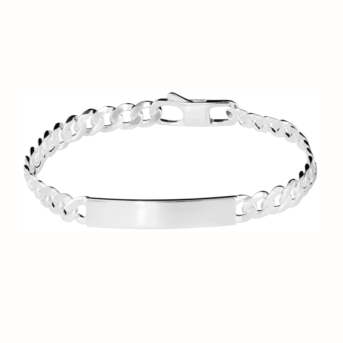 Gourmette femme argent 4 mm maille gourmette - MARLA