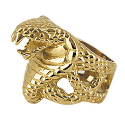 Bague tête serpent or 9k - COBRA