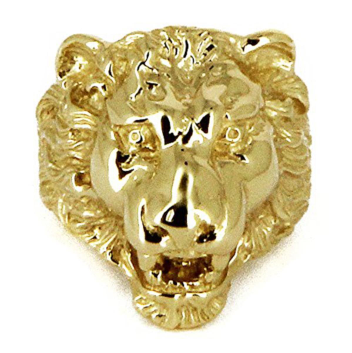 bague homme lion or