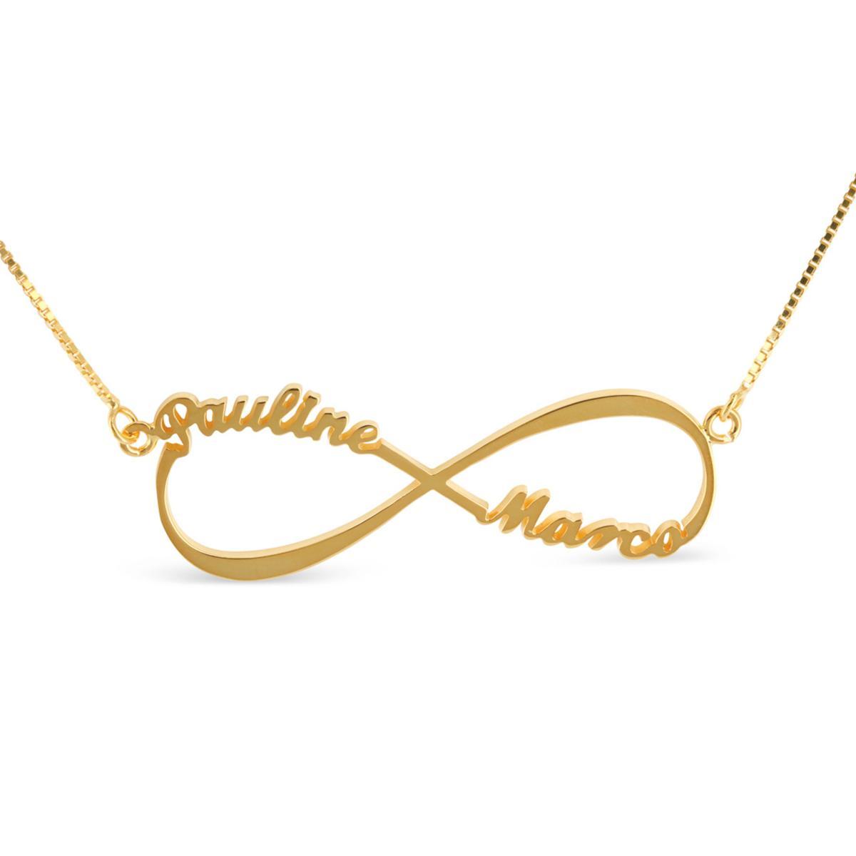 collier prenom infini france