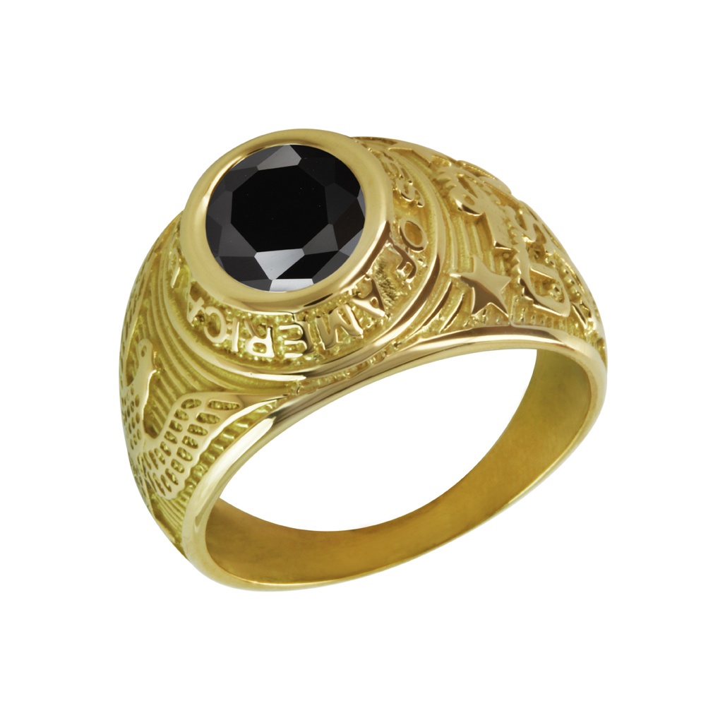 Bague universitaire or 9k - LEVI